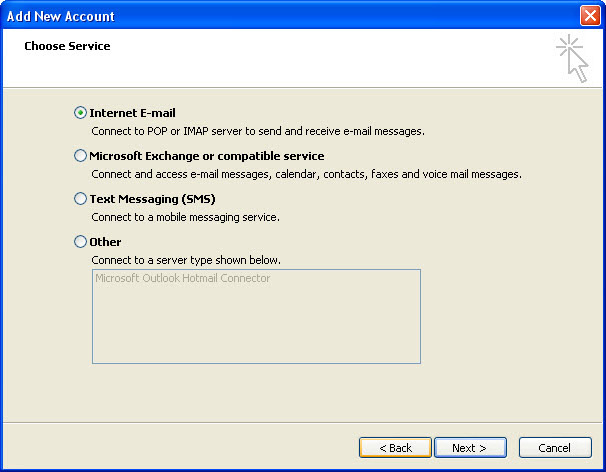 how to set up outlook mail account